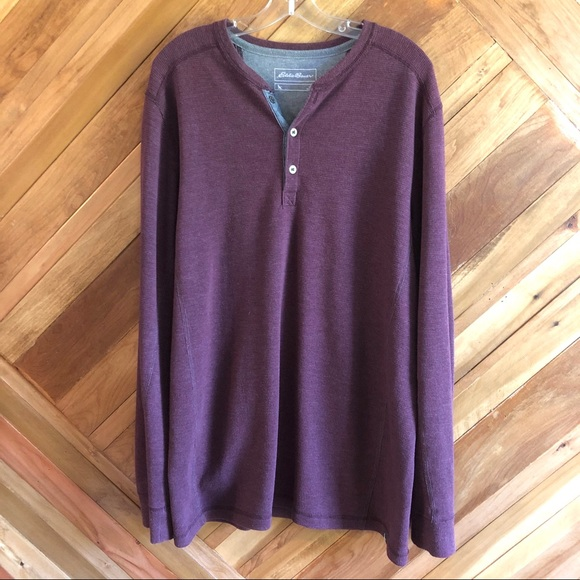 NWOT Eddie Bauer Large Tall Henley Sweater